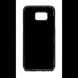Coque pour Samsung S7 Edge Drapeau Corse Emblème - Écusson Argent à Tête de Maure - contour noir (Samsung S7 Edge)