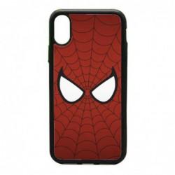 Coque noire pour IPHONE X et IPHONE XS les yeux de Spiderman - Spiderman Eyes - toile Spiderman