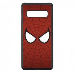 Coque noire pour Samsung Note 2 N7100 les yeux de Spiderman - Spiderman Eyes - toile Spiderman