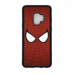 Coque noire pour Samsung S9 les yeux de Spiderman - Spiderman Eyes - toile Spiderman
