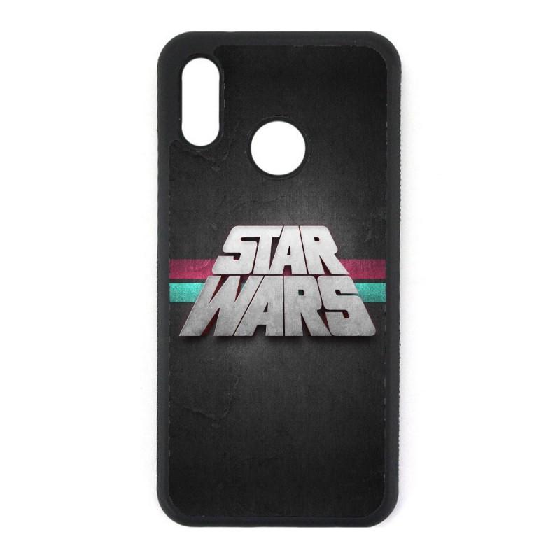 Coque noire personnalisée pour Smartphone Huawei P20 Lite logo Stars Wars fond gris - légende Star Wars