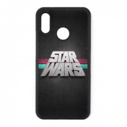 Coque noire pour Huawei P30 logo Stars Wars fond gris - légende Star Wars