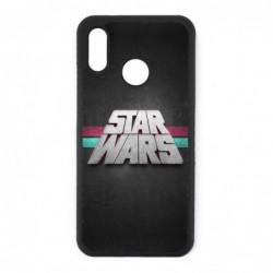 Coque noire pour Huawei P6 logo Stars Wars fond gris - légende Star Wars