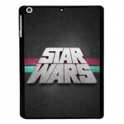 Coque noire pour IPAD 2 3 et 4 logo Stars Wars fond gris - légende Star Wars