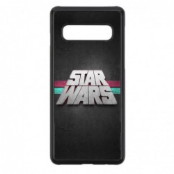 Coque noire pour Samsung Galaxy Y S5360 logo Stars Wars fond gris - légende Star Wars